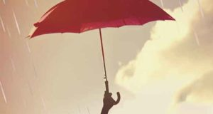 Zwei Herzen im Regen